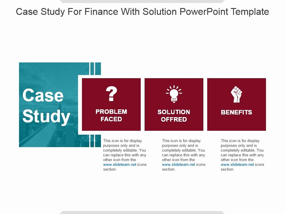 Case Study Presentation Template New Case Study for Finance with solution Powerpoint Template