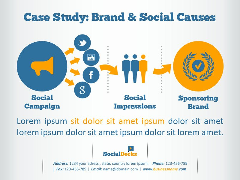 Case Study Presentation Template New socialdecks Powerpoint Template by Kh2838