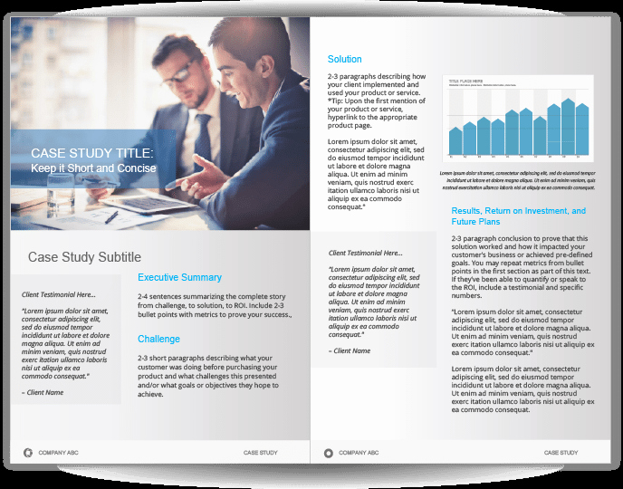 Case Study Template Design Awesome Case Study Template