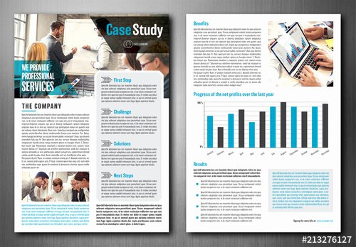 Case Study Template Design Beautiful Case Study Layout Buy This Stock Template and Explore