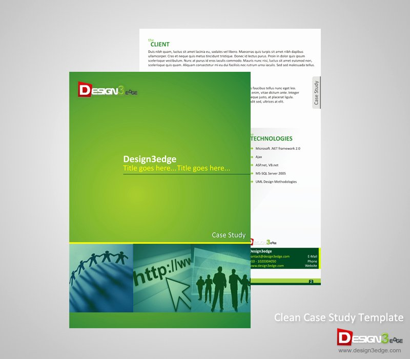 Case Study Template Design Best Of Clean Case Study Template