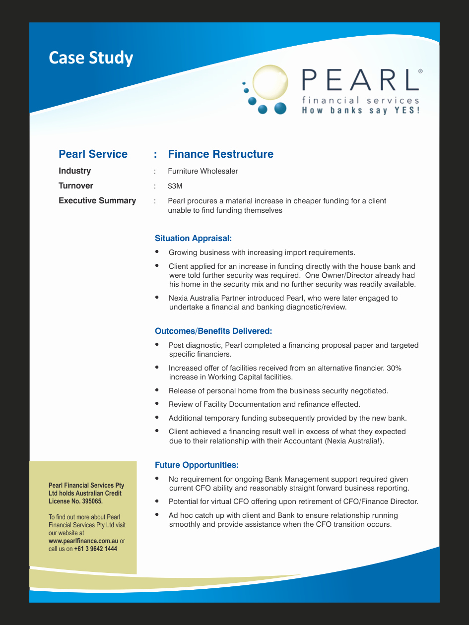 Case Study Template Design Lovely Bold Modern Sales Flyer Design for Pearl Financial