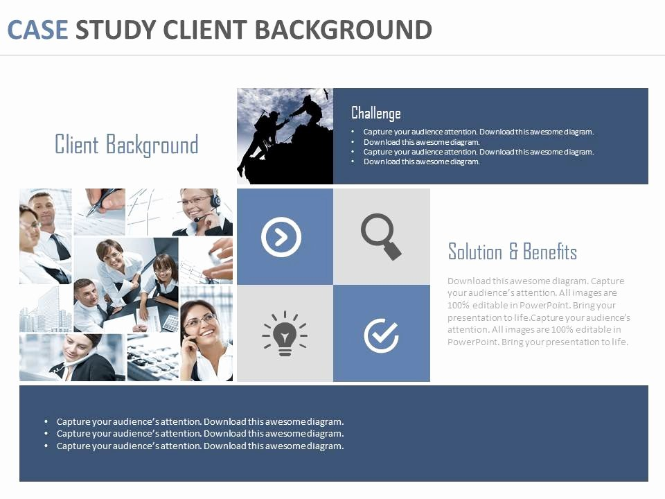Case Study Template Ppt Best Of Case Study Client Background Ppt Slides