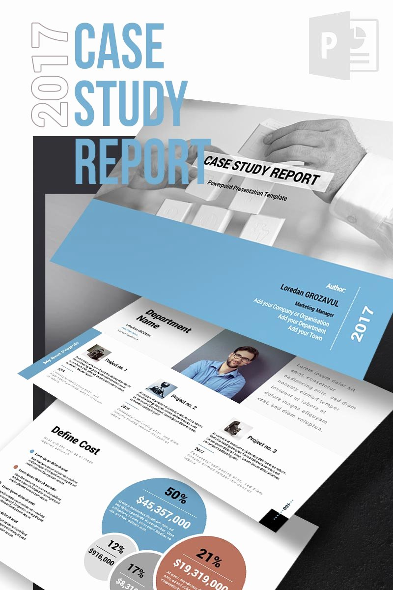 Case Study Template Ppt Fresh 2017 Case Study Report Powerpoint Template
