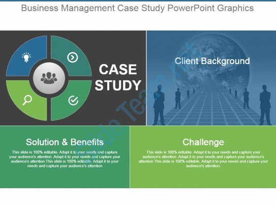 Case Study Template Ppt Inspirational Business Management Case Study Powerpoint Graphics