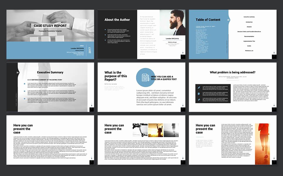 Case Study Template Ppt Lovely 2017 Case Study Report Powerpoint Template