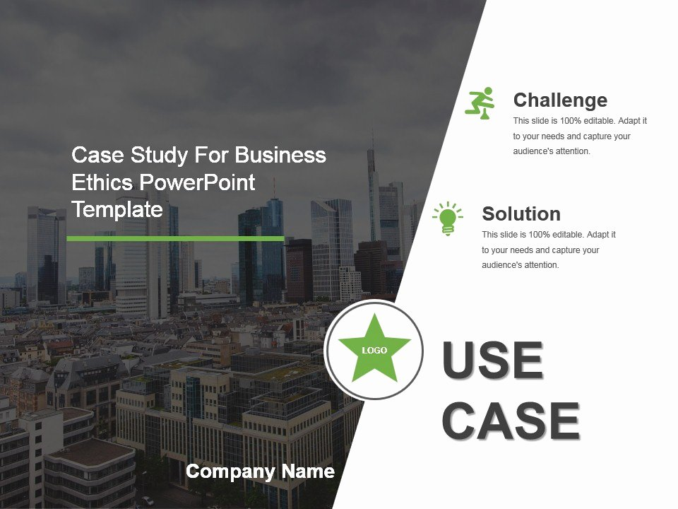 Case Study Template Ppt New Case Study for Business Ethics Powerpoint Template