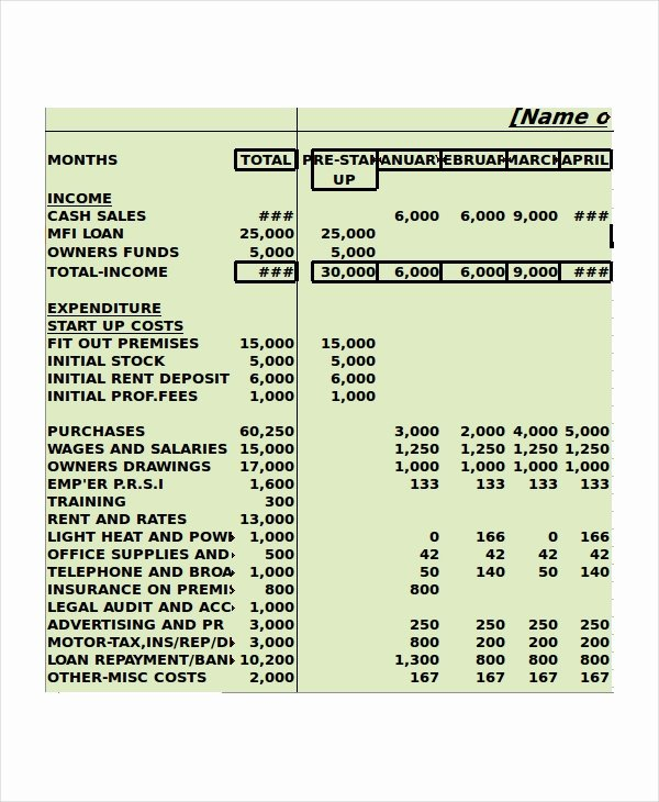 Cash Flow Budget Template Fresh Cash Flow Excel Template 11 Free Excels Download