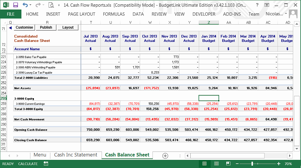 Cash Flow Budget Template Fresh Inter Pany Reconciliation Excel Template Baskanai