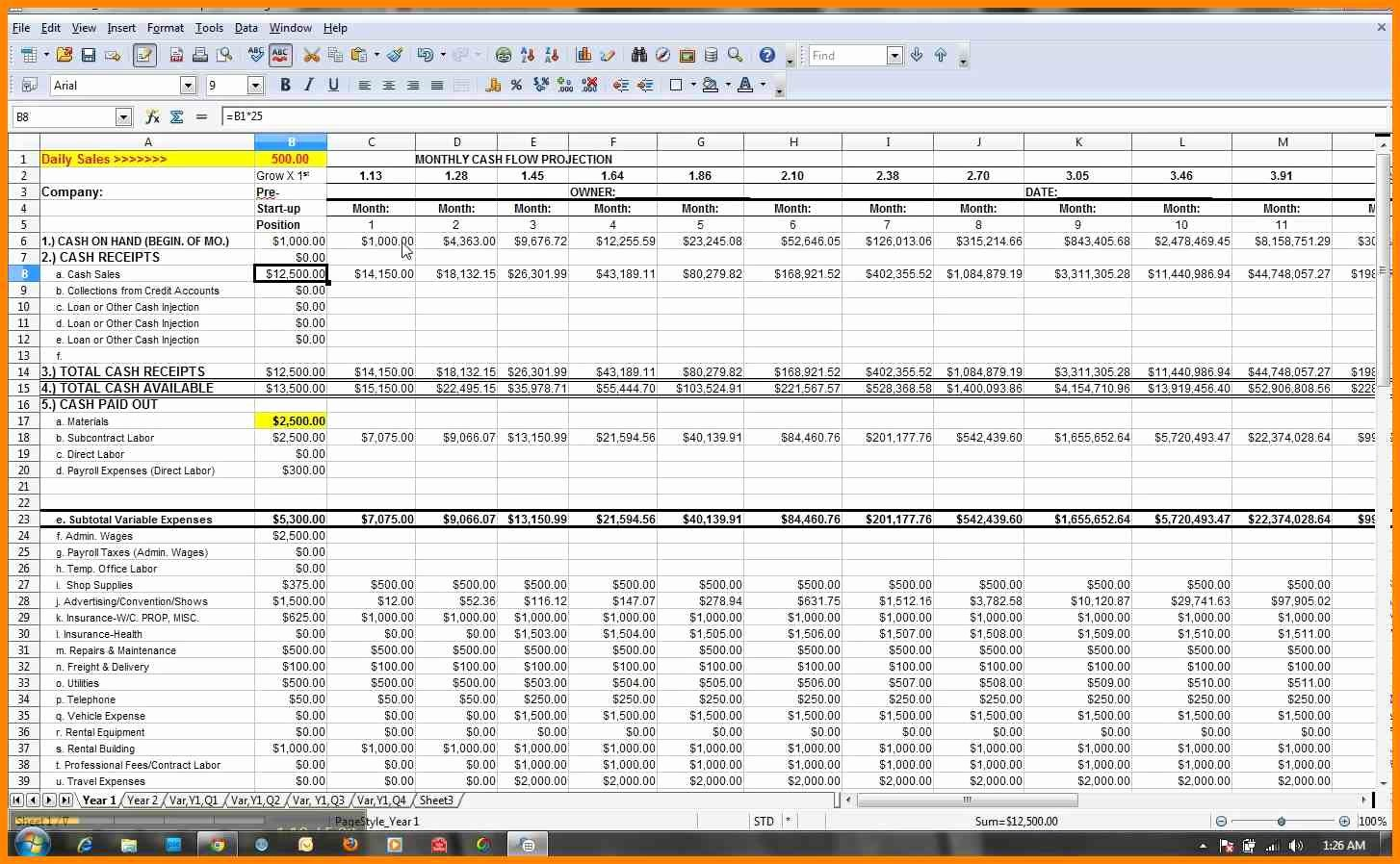 Cash Flow Excel Template Awesome Cash Flow Excel Spreadsheet Template Excel Spreadsheet