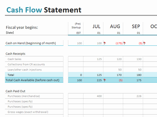 Cash Flow Excel Template Luxury 9 Cash Flow Excel Templates Excel Templates