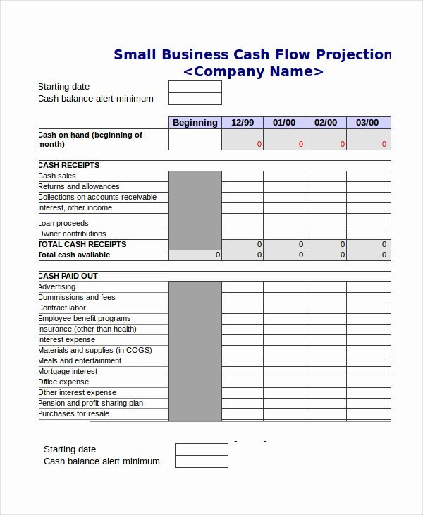 Cash Flow Excel Template New Cash Bud Template