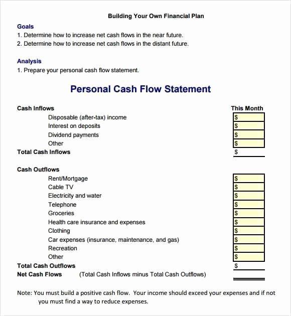 Cash Flow Template Excel Inspirational 9 Cash Flow Excel Templates Excel Templates