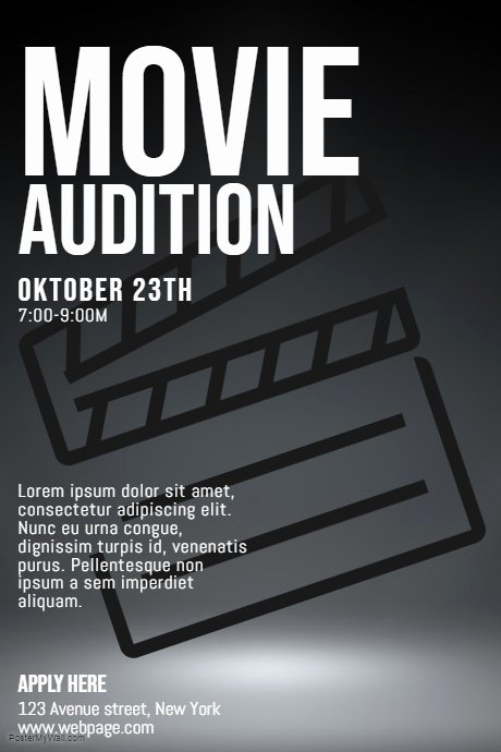 Casting Call Flyer Template Awesome Movie Auditions Casting Call Flyer Template