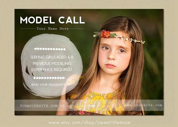Casting Call Flyer Template Beautiful Model Call Template Photography Casting Call 5x7 Marketing