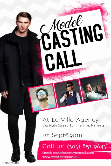 Casting Call Flyer Template Beautiful Model Casting Call Flyer Template