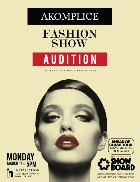 Casting Call Flyer Template Elegant Fashion Show Auditions Flyer Fashion Show
