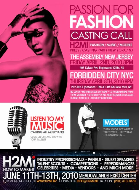 Casting Call Flyer Template Elegant Pretty Business Television Passion for Fashion Casting Call