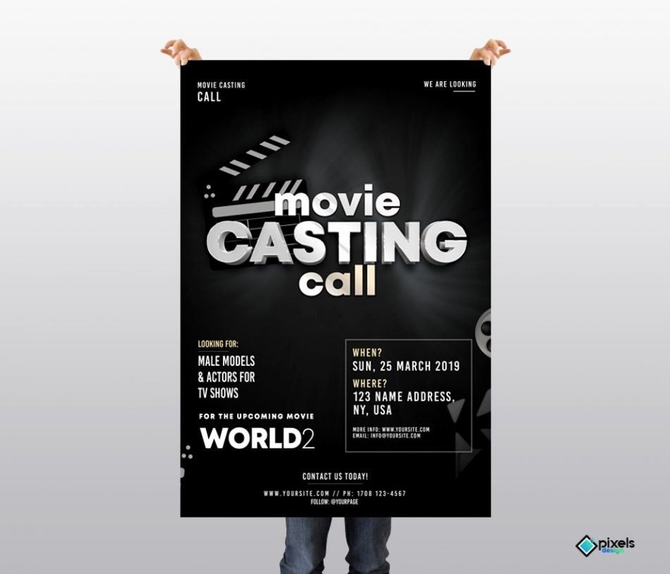 Casting Call Flyer Template Inspirational Casting Call Free Psd Flyer Template Free Psd Flyer