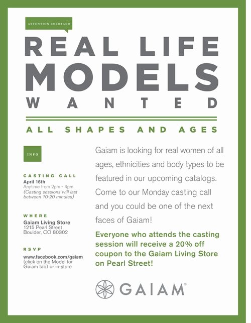 Casting Call Flyer Template Lovely Real Life Model Casting Call today 4 16 From 2pm 4pm at