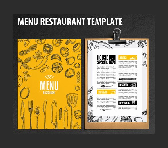 Catering Menu Template Free Awesome Restaurant Menu Template 33 Free Psd Eps Documents