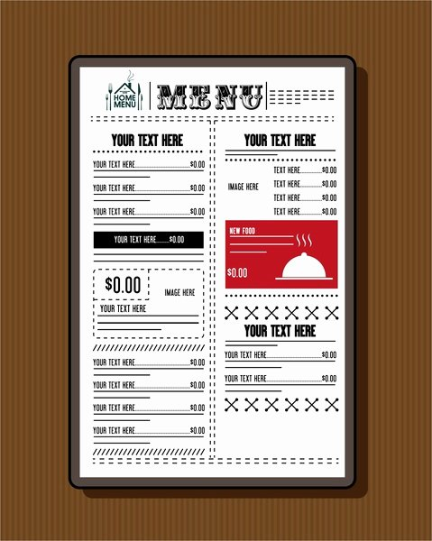 Catering Menu Template Free Elegant Restaurant Menu Template Free Vector 17 709 Free