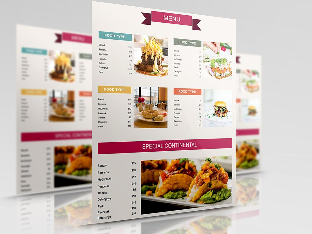 Catering Menu Template Free Fresh 20 Best Free Restaurant Menu Templates and Covers 2019