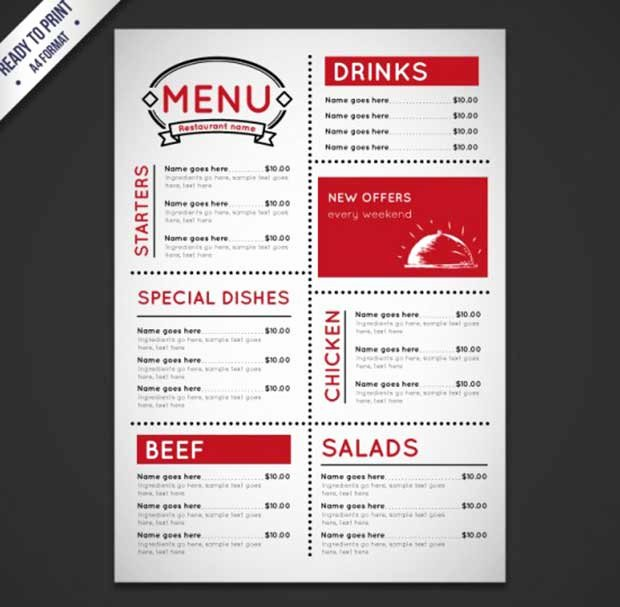 Catering Menu Template Free Fresh 26 Free Restaurant Menu Templates to Download