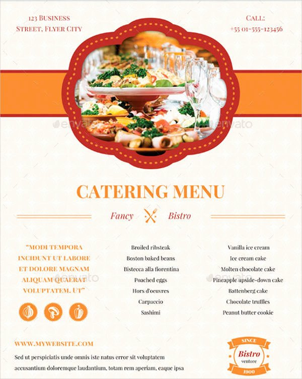 Catering Menu Template Free Inspirational 7 Banquet Menu Templates Psd Vector Eps Ai