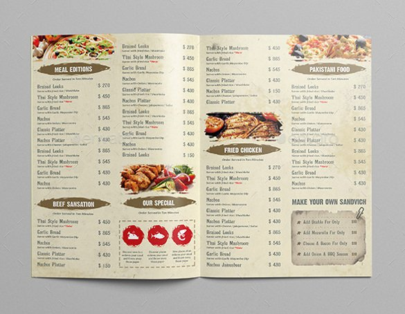 Catering Menu Template Free New Restaurant Menu Template 33 Free Psd Eps Documents