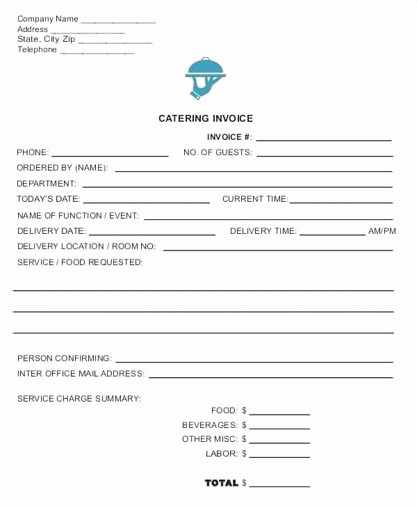Catering order forms Template Inspirational Catering order form Template Word Beautiful Customer