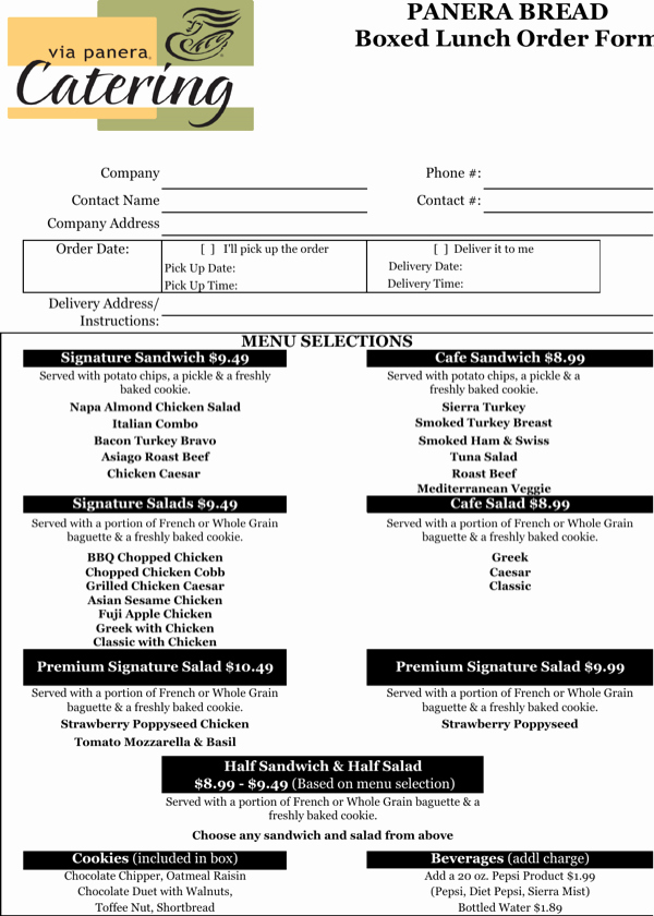 Catering order forms Template Inspirational Download Catering order form Template Excel for Free