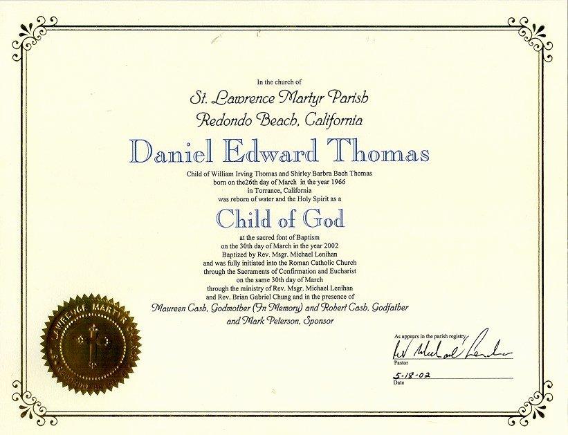 Catholic Baptism Certificate Template Beautiful 821px