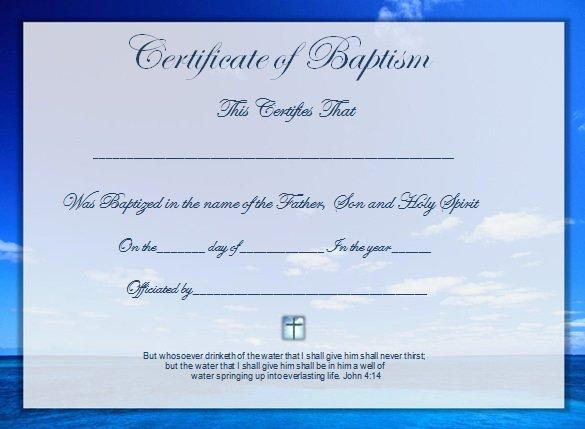 Catholic Baptism Certificate Template Luxury Baptism Certificate Template Free Download Templates