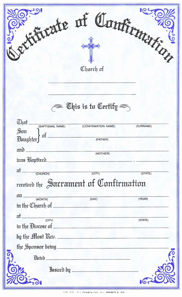 Catholic Baptism Certificate Template Unique Family Confirmation Certificate formate Cover Letter