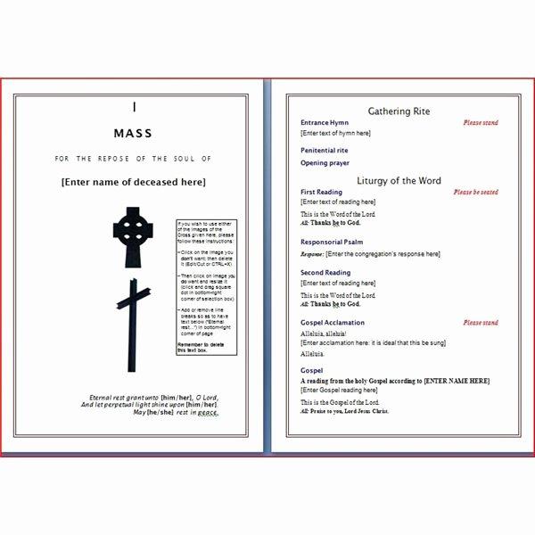 Catholic Funeral Program Template Fresh Six Resources to Find Free Funeral Program Templates to