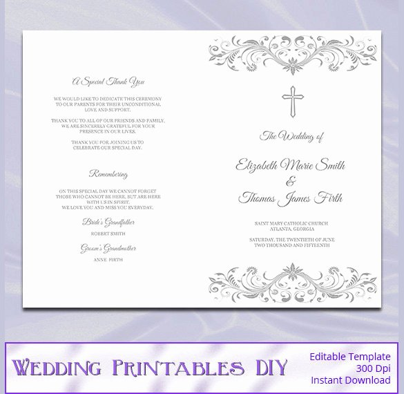Catholic Mass Program Template Elegant Wedding Program Template 41 Free Word Pdf Psd