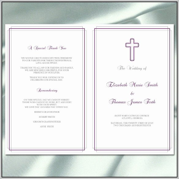 Catholic Mass Program Template Lovely Catholic Wedding Mass Program Template Resume Examples