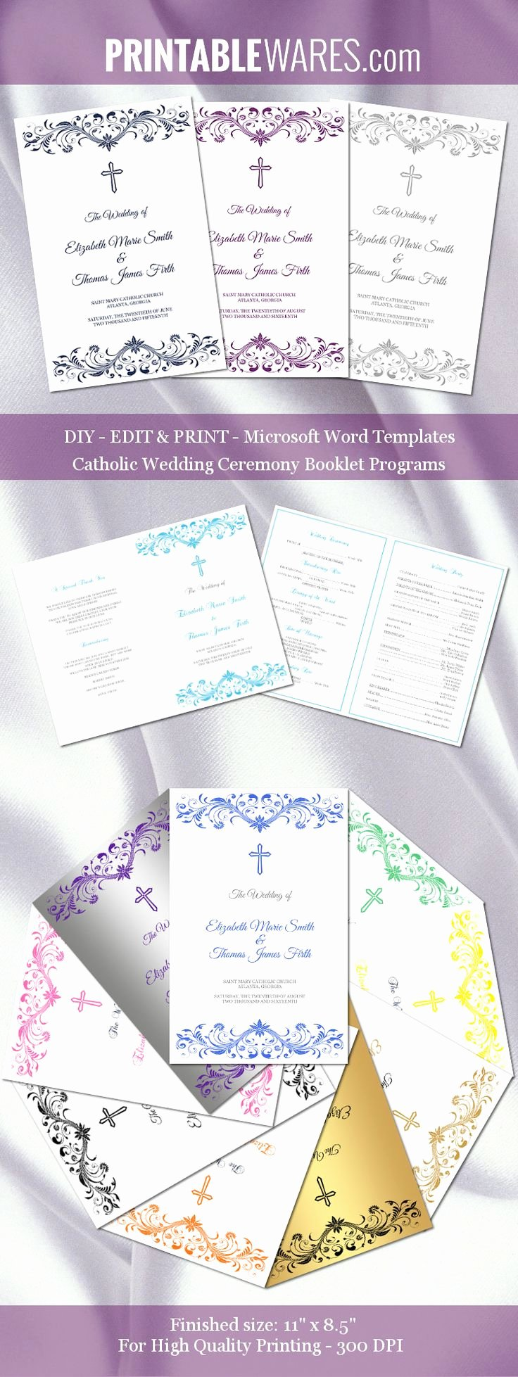 Catholic Mass Program Template Luxury Catholic Wedding Program Templates for Microsoft Word You