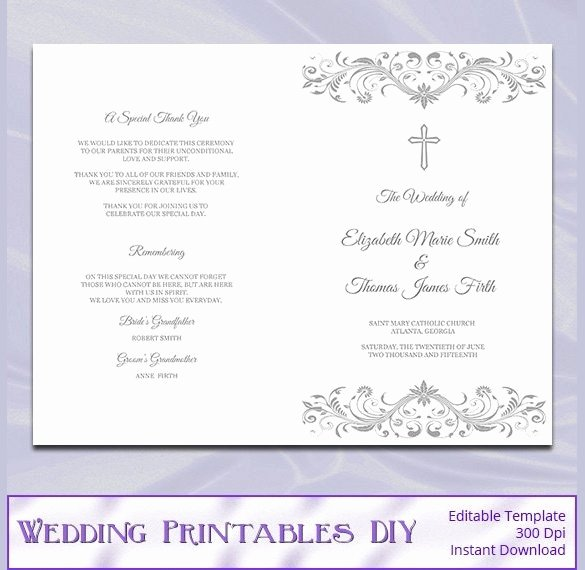 Catholic Wedding Program Template Awesome Catholic Wedding Program Template Free Beepmunk