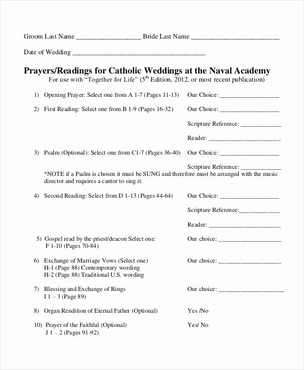 Catholic Wedding Program Template Best Of 10 Wedding Program Templates Free Sample Example
