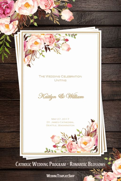 Catholic Wedding Program Template Best Of 25 Best Ideas About Catholic Wedding Programs On