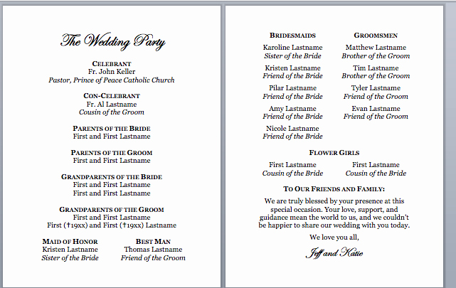 Catholic Wedding Program Template Best Of Spirals & Spatulas Catholic Wedding Program