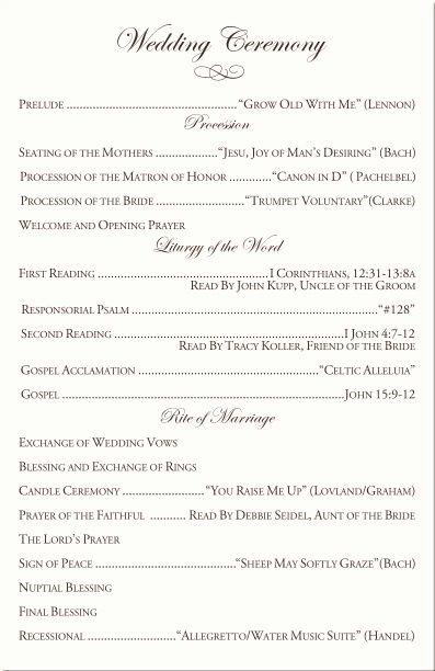 Catholic Wedding Program Template Fresh Catholic Wedding Ceremony Program Template I Like the You