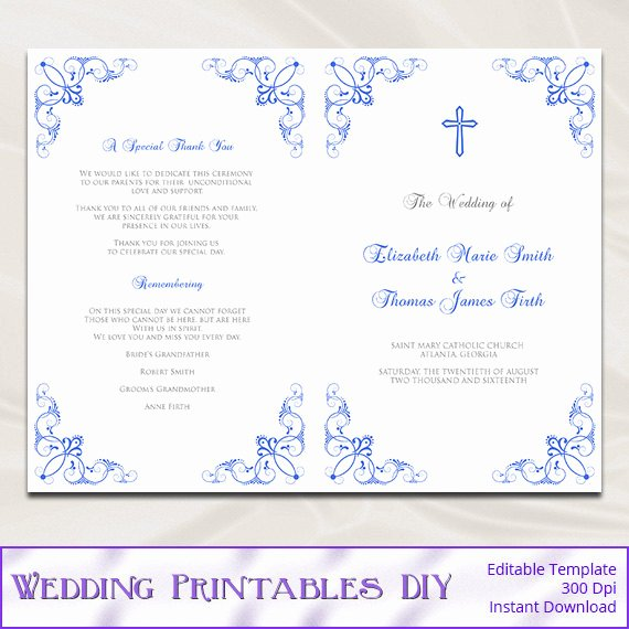 Catholic Wedding Program Template Inspirational Catholic Wedding Program Template
