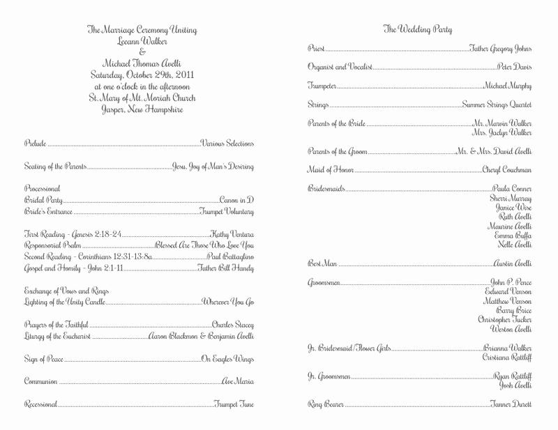 Catholic Wedding Program Template Luxury Wedding Program Templates Wedding Programs Fast