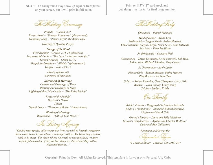 Catholic Wedding Program Template Unique Best 25 Catholic Wedding Programs Ideas On Pinterest