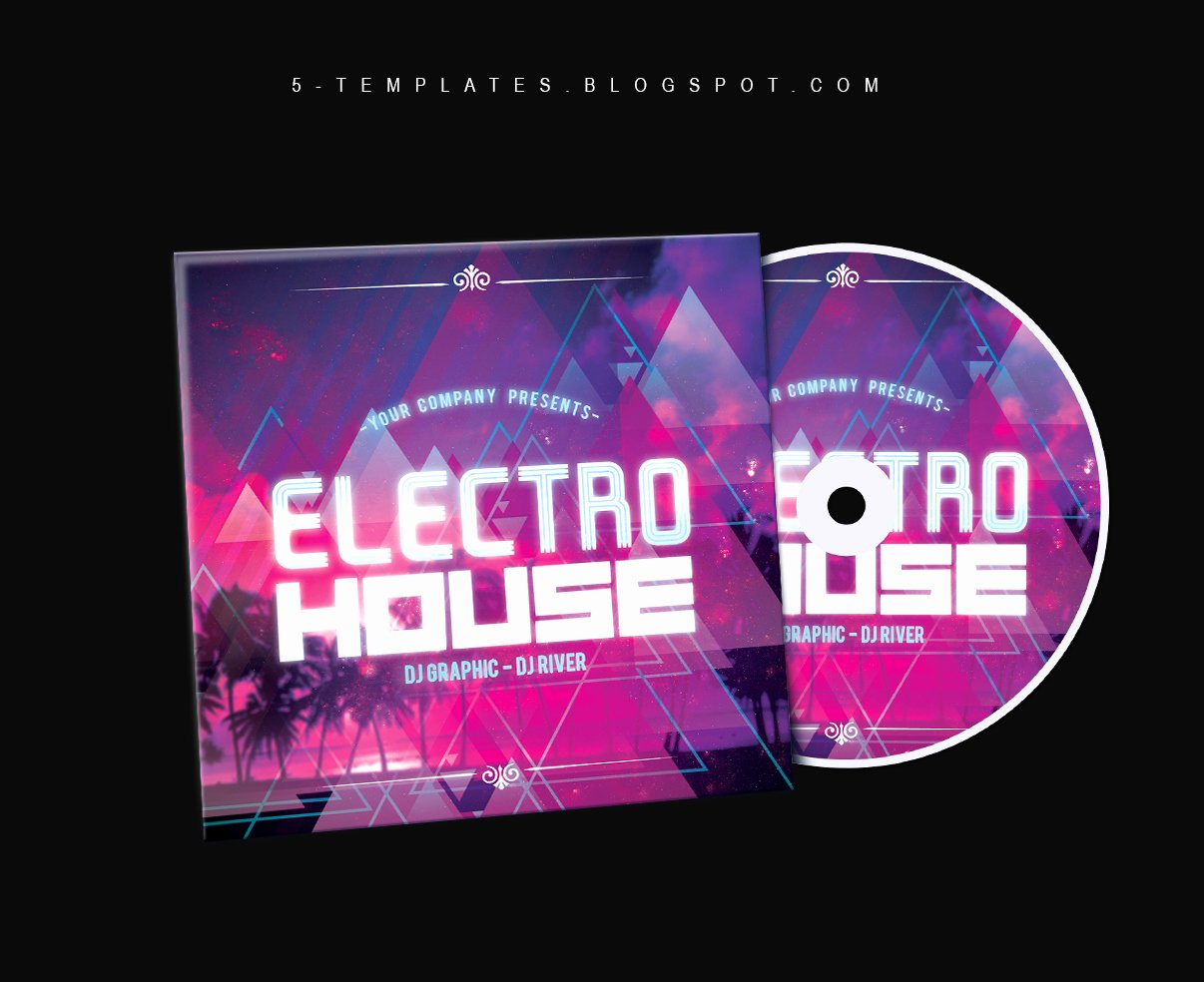 Cd Cover Template Photoshop Lovely Electro House Cd Cover Free Psd Template by Klarensm On