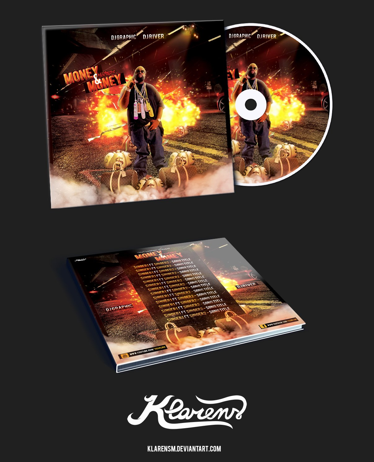 Cd Cover Template Psd Beautiful Hip Hop Mixtape Album Cd Cover Free Psd Template by