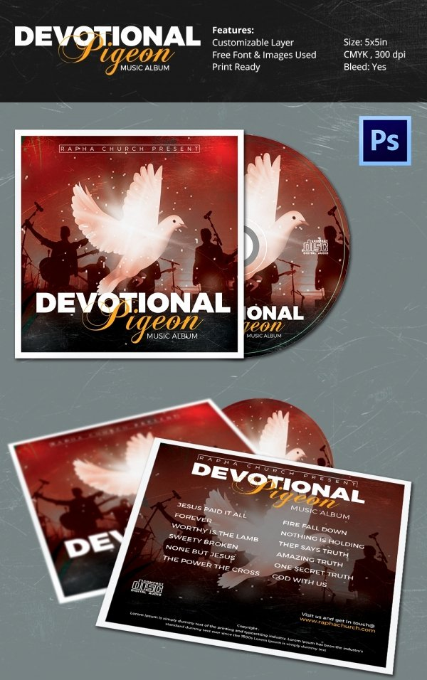 Cd Cover Template Psd Inspirational Cd Cover Template 51 Free Psd Eps Word format